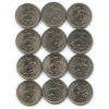 Набор монет 5 копеек (погодовка) 1997-2009 СП (Россия)