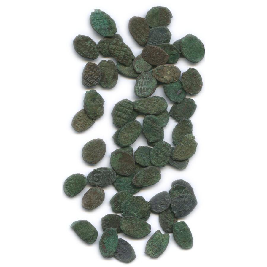 Набор монет «чешуя» - Алексей Михайлович, «медный бунт» (62 шт.)