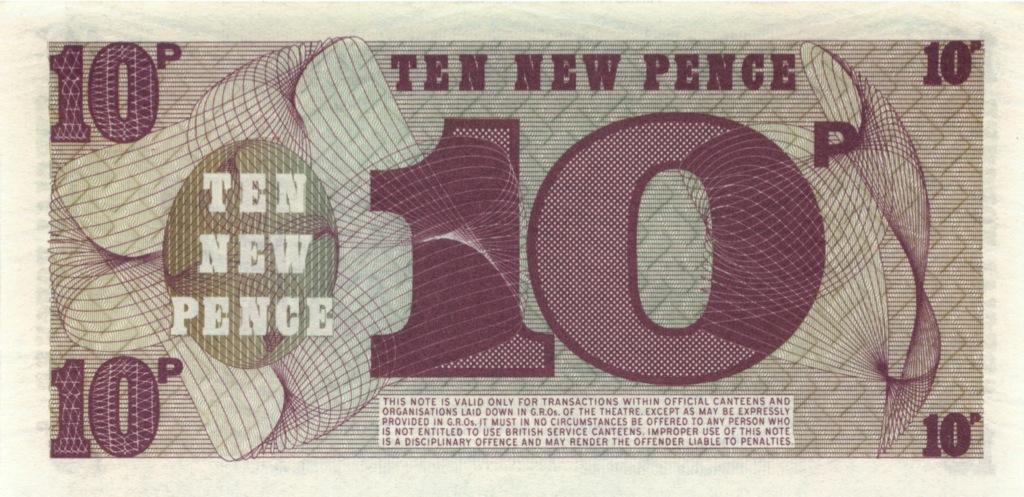 10 новых пенсов (ваучер) - Вооруженные силы Великобритании (Великобритания)