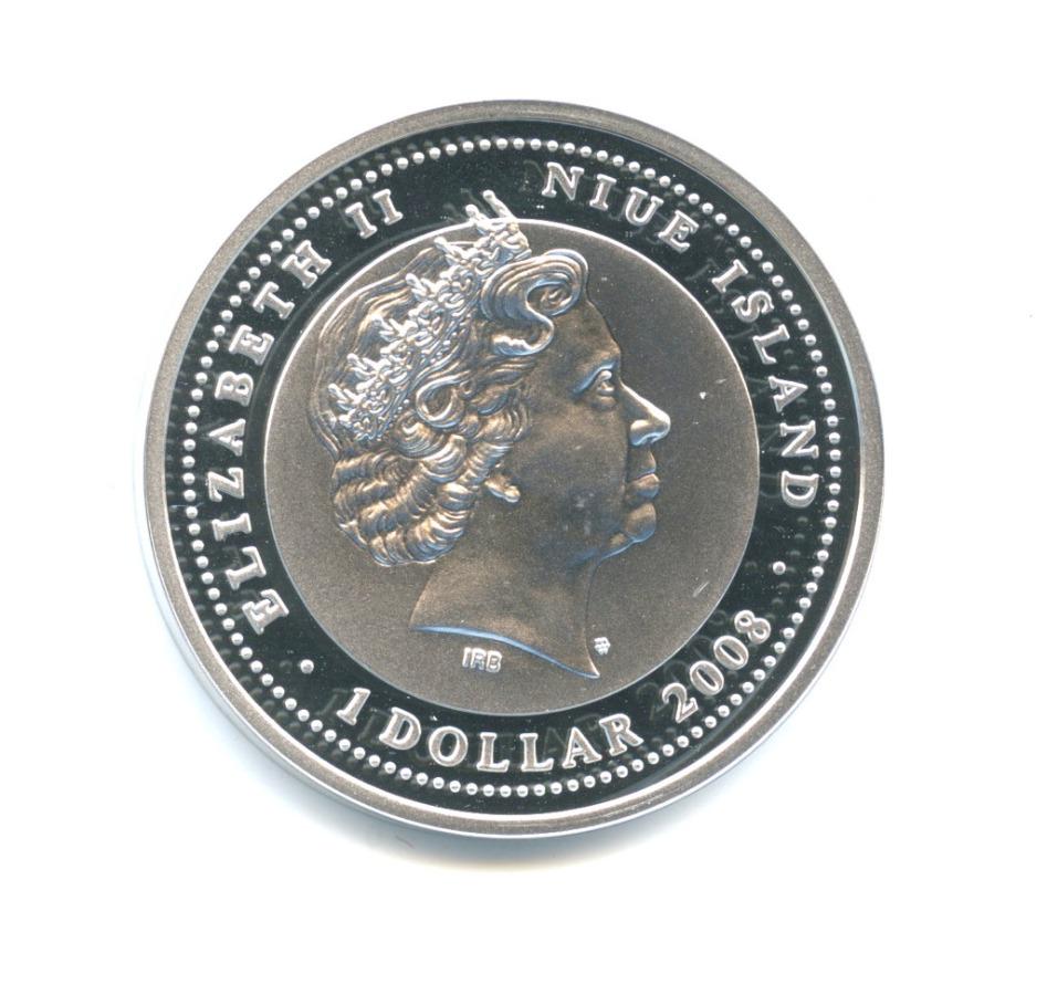 1 доллар - Год Быка, Остров Ниуэ (ссертификатом) 2008 года