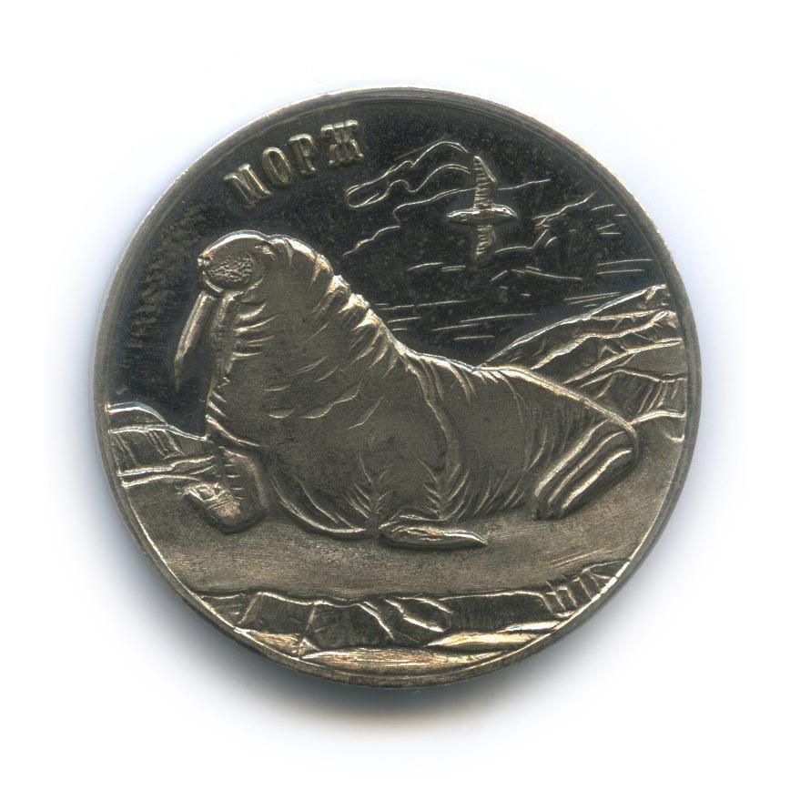 Жетон монетовидный «25 рублей 2013 - Морж, Шпицберген, Арктикуголь» (Россия)