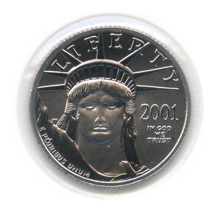 25 долларов - Платиновый орел (вхолдере) 2001 года (США)