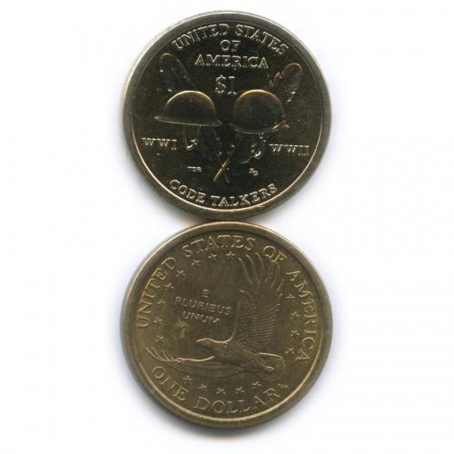 Набор юбилейных монет 1 доллар 2000, 2016 P, D (США)