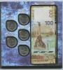 Набор монет 5 рублей - Великая Отечественная война 1941-1945 гг. (вальбоме «Крым иСевастополь», сбанкнотой 100 рублей, серия СК) 2015 года (Россия)