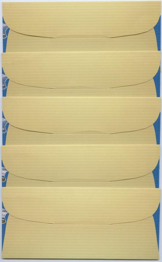 Набор конвертов-холдеров для банкноты 100 рублей 2015 - Крым иСевастополь (5 шт.) (Россия)