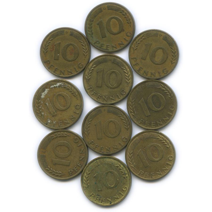 Набор монет 10 пфеннигов 1950 года (Германия)