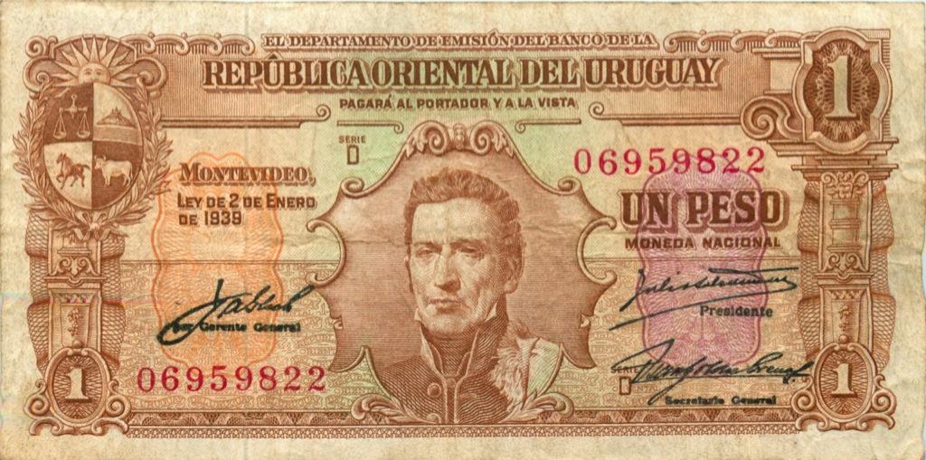 1 песо 1939 года (Уругвай)