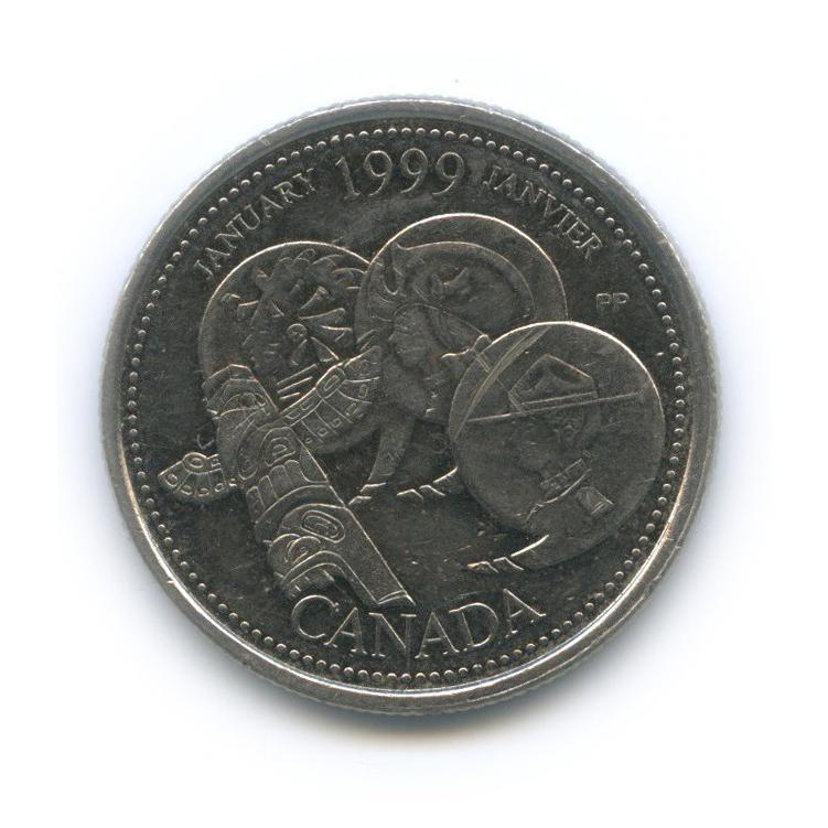 25 центов (квотер) — Миллениум - Январь 1999, Развитие страны 1999 года (Канада)