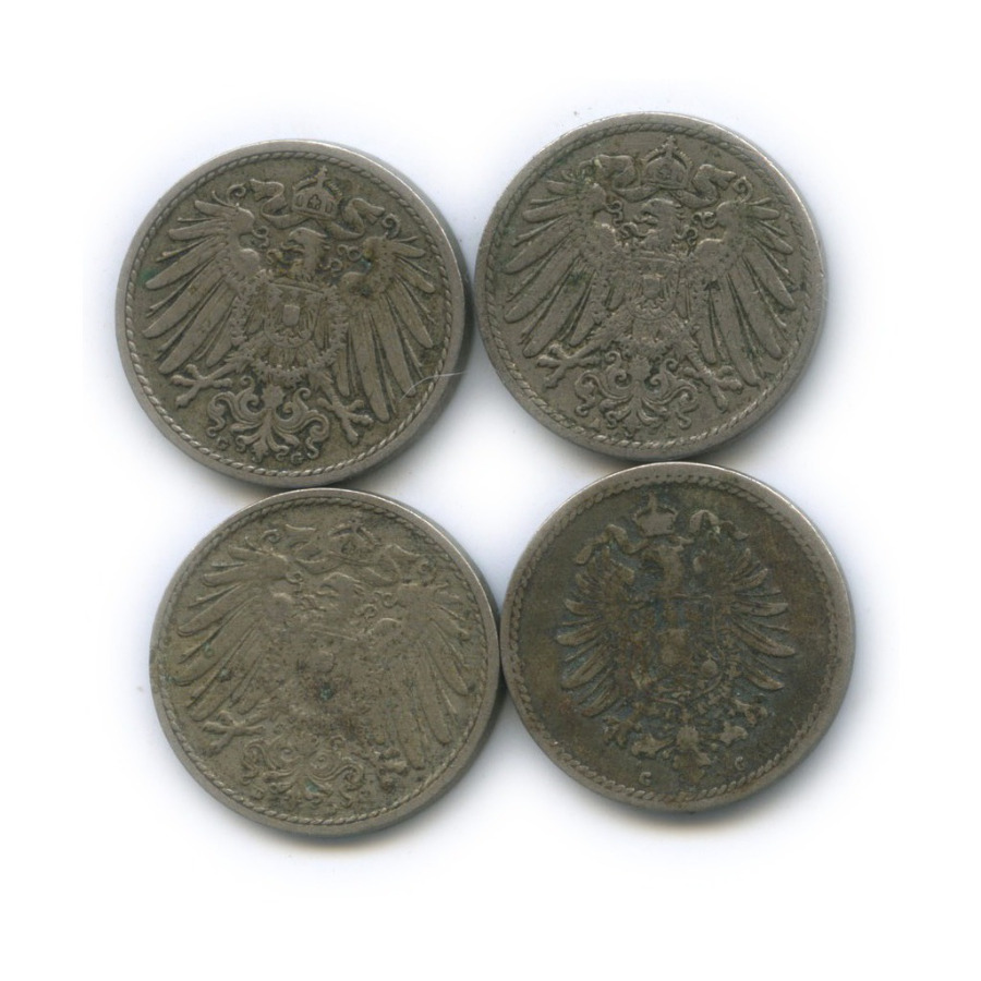 Набор монет 5 пфеннигов (Германия)