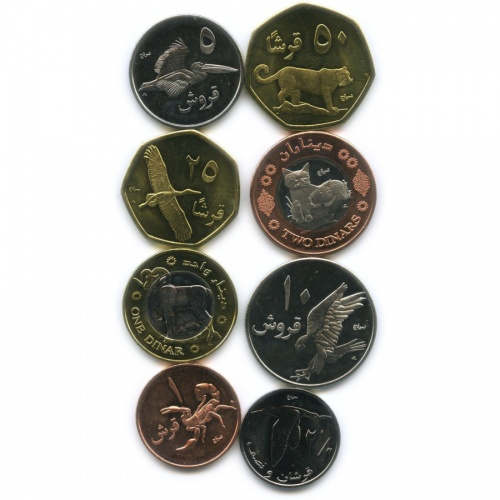Набор монет, Палестина 2010 года