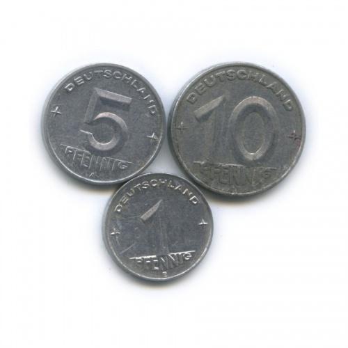 Набор монет 1950 года (Германия (ГДР))
