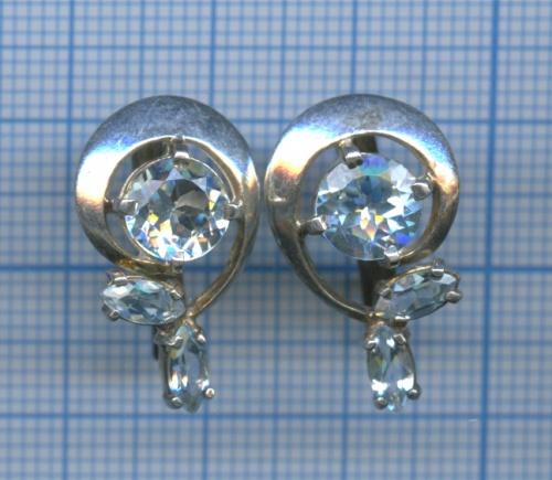 Серьги (серебро 925 пробы, сломаны)
