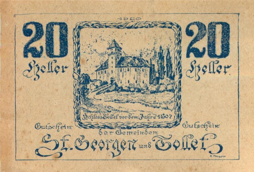 20 геллеров (нотгельд) 1921 года (Австрия)