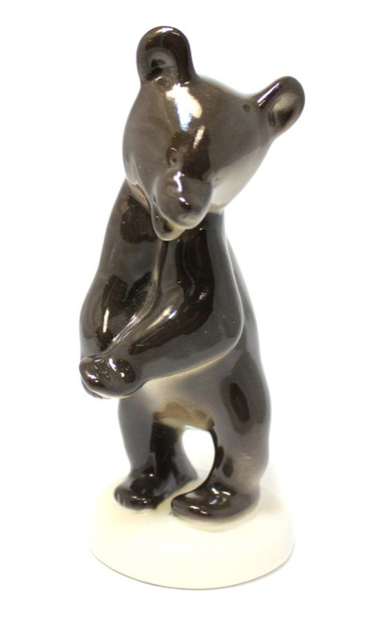Фигурка «Медведь» (ЛФЗ, фарфор), 14,5 см