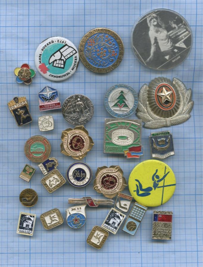 Набор значков с кокардой (Россия, СССР)
