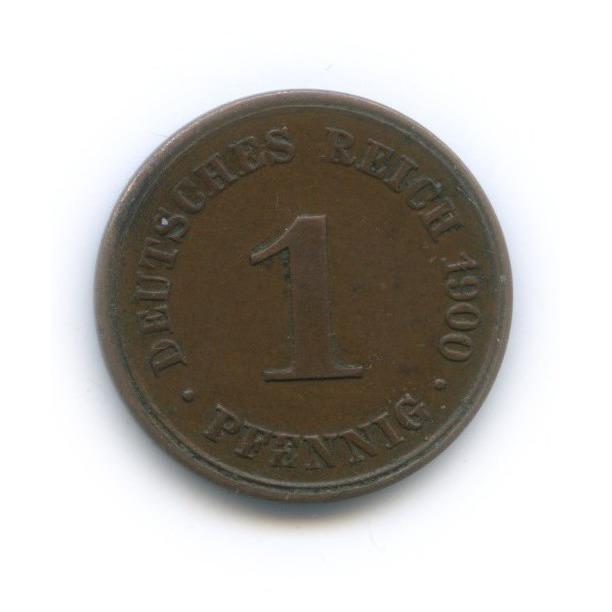 1 пфенниг 1900 года D (Германия)