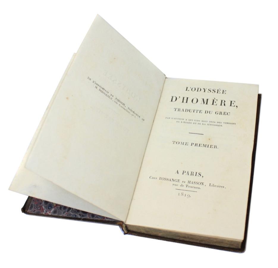 Книга Гомер «Одиссея», том I, Париж, 331 стр. 1819 года (Франция)