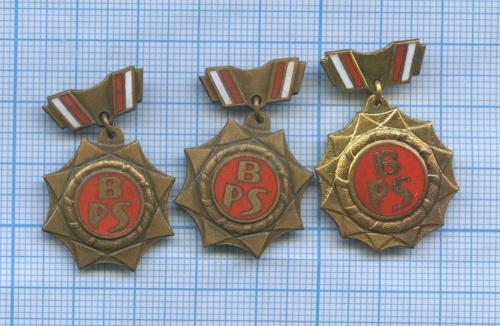 Набор знаков «Бригада социалистического труда» (тяжелые) (Польша)