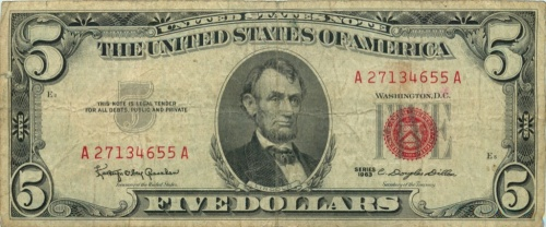 5 долларов 1963 года (США)