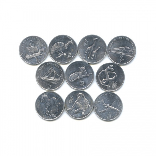 Набор юбилейных монет, Северная Корея 2002 года