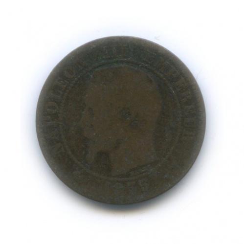 2 сантима - Наполеон III 1855 года (Франция)