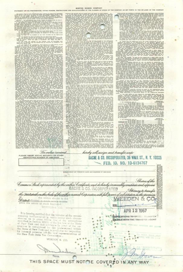 25 акций («Boston Edison Company») (США)
