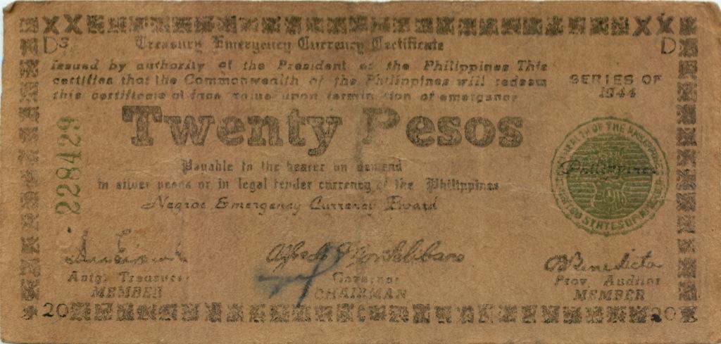 20 песо 1944 года (Филиппины)