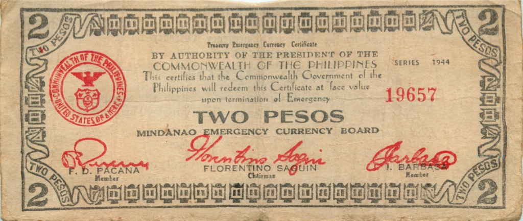 2 песо 1944 года (Филиппины)