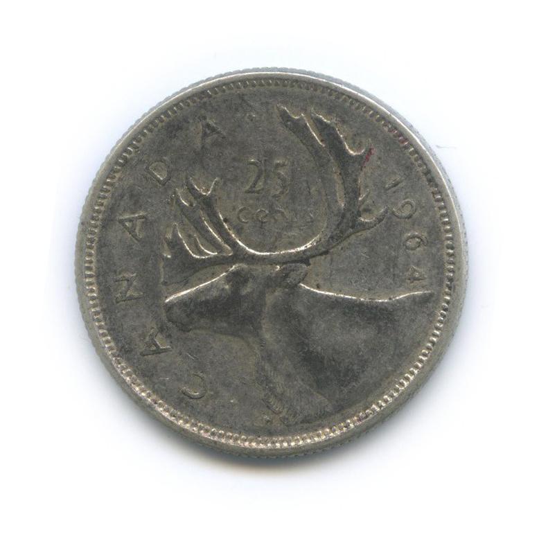25 центов (квотер) 1964 года (Канада)