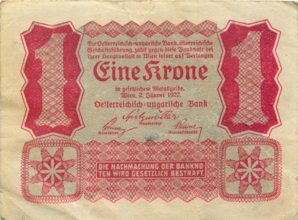 1 крона 1922 года (Австрия)