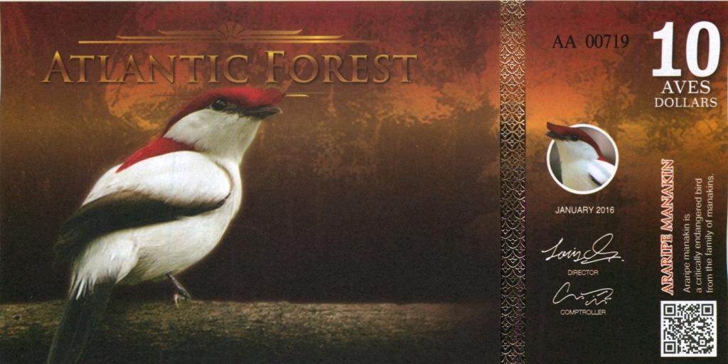 10 долларов (Атлантический лес) 2016 года