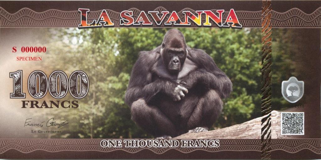 1000 франков (Саванна) 2015 года