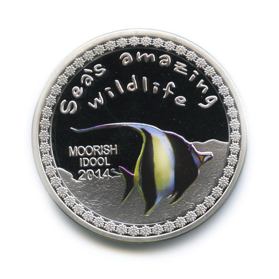 5000 франков - Удивительный подводный мир - Рогатый занкл, Республика Бурунди (серебрение, цветная эмаль) 2014 года