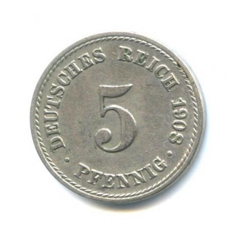 5 пфеннигов 1908 года A (Германия)