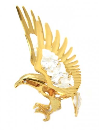 Фигурка декоративная «Орел» (металл, стекло, 8×6,5 см)