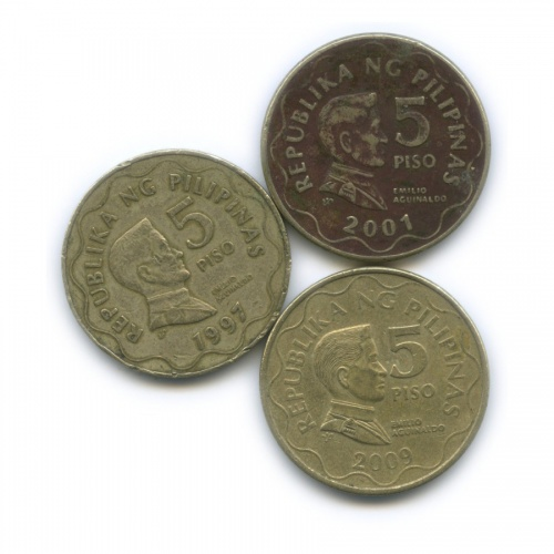 Набор монет 5 писо (Филиппины)