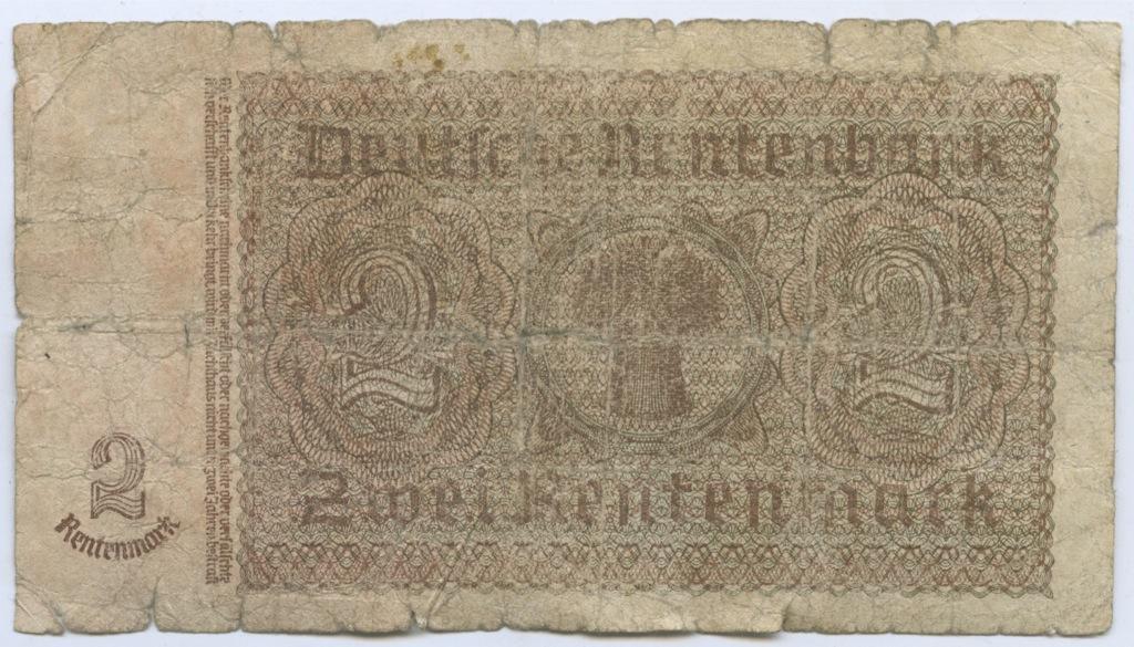 2 рентенмарки 1937 года (Германия)