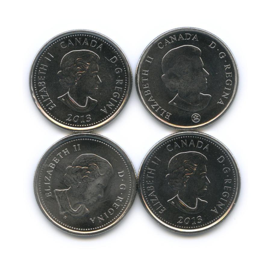 Набор юбилейных монет 25 центов (квотер) (Канада)