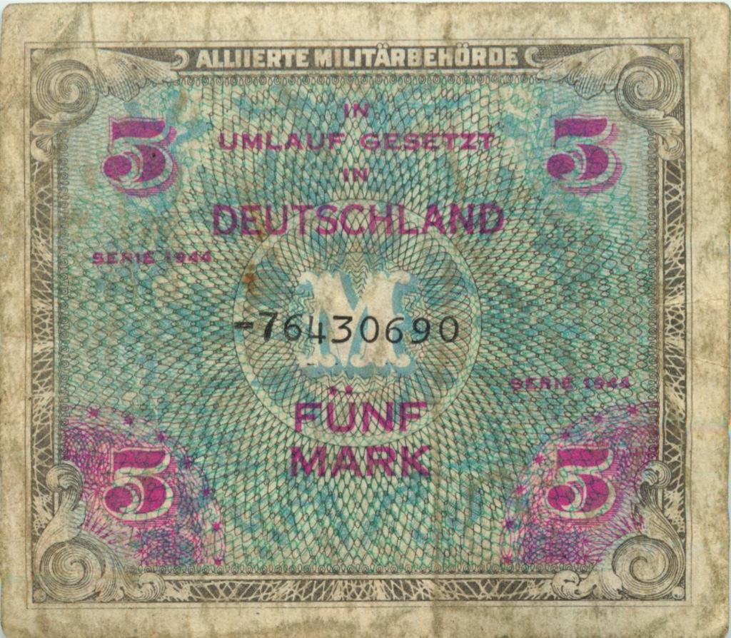 5 марок 1944 года (Германия)