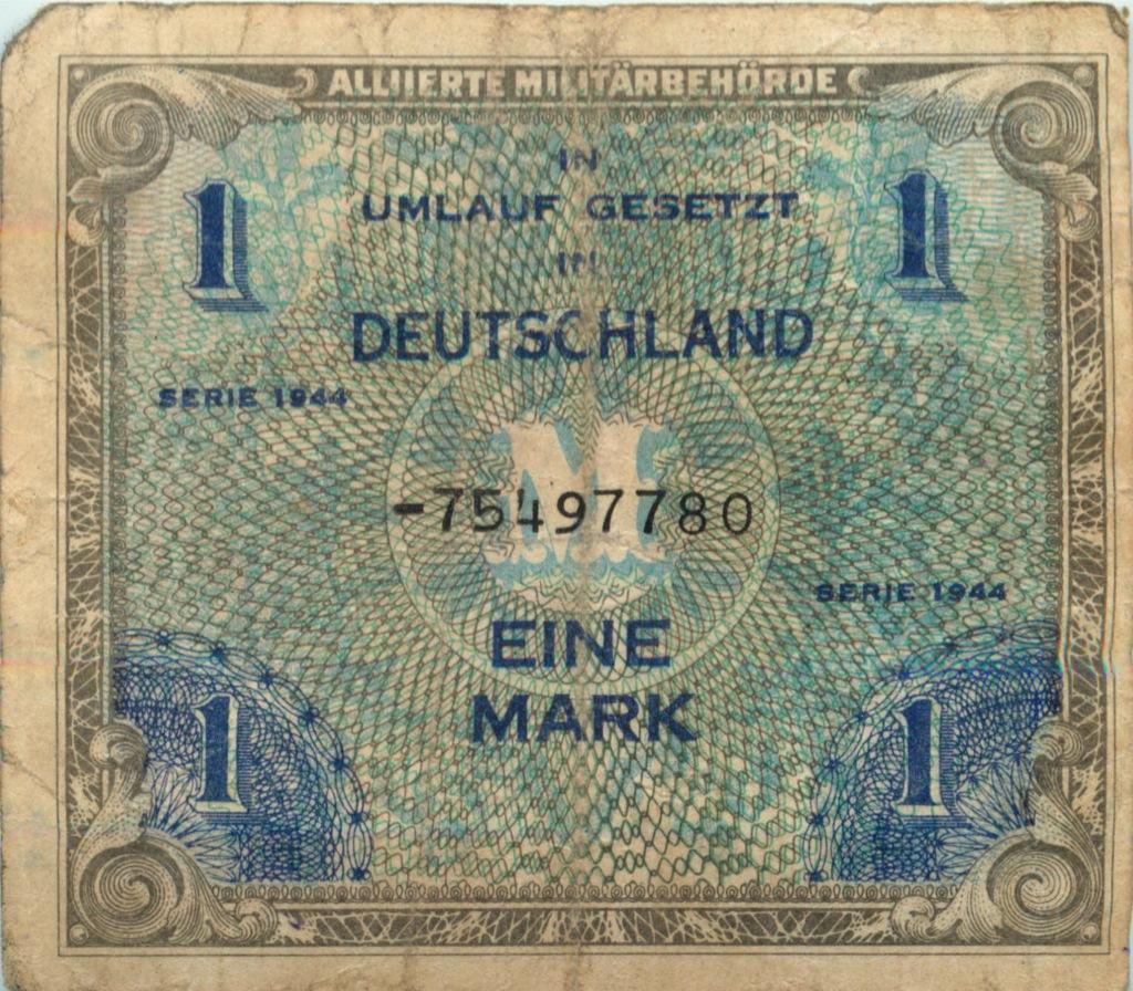 1 марка 1944 года (Германия)