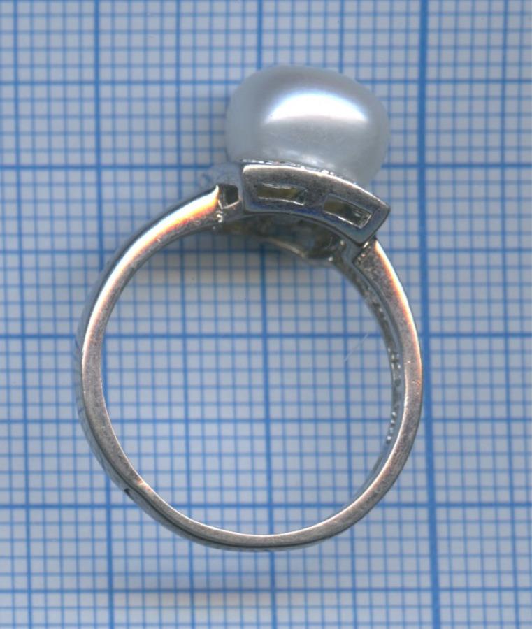 Кольцо (искусственный жемчуг, 925 проба серебра)