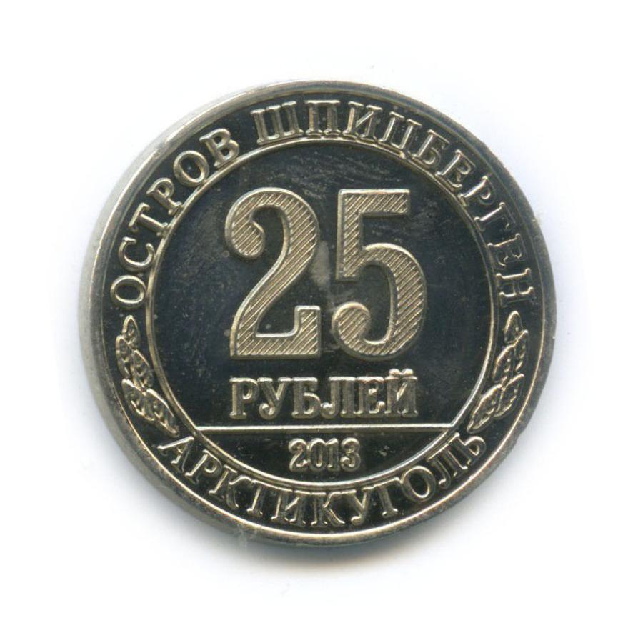 Жетон «25 рублей - Кайра - Шпицберген, Арктикуголь» 2013 года (Россия)