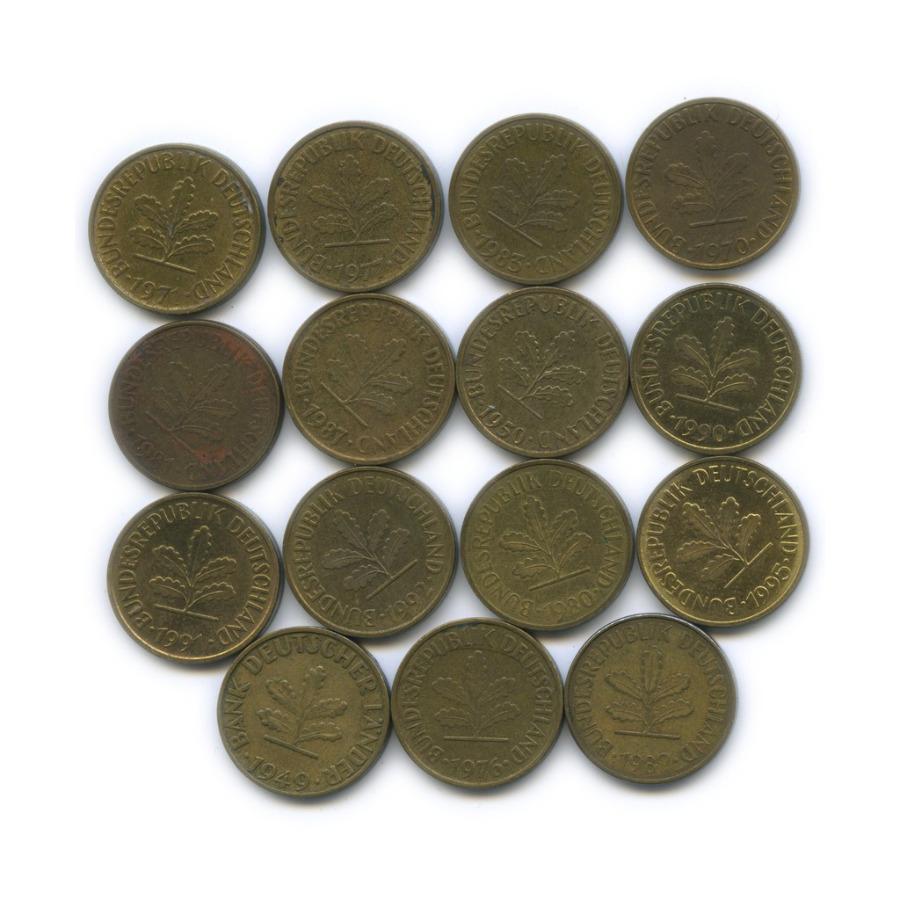 Набор монет 5 пфеннигов (разные года) (Германия)