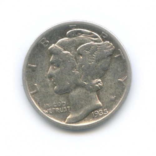10 центов (дайм) 1935 года (США)