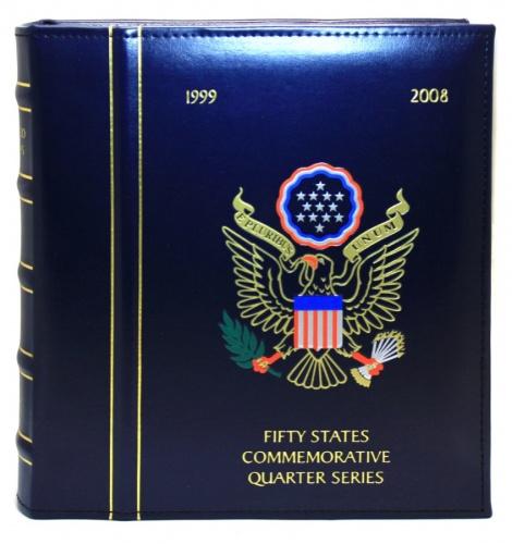 Альбом для монет «Fifty states commemorative quarter series 1999-2008» (100 ячеек) (Китай)
