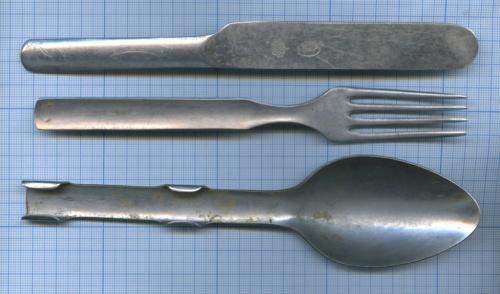 Набор походный: вилка, ложка, нож (Швеция)