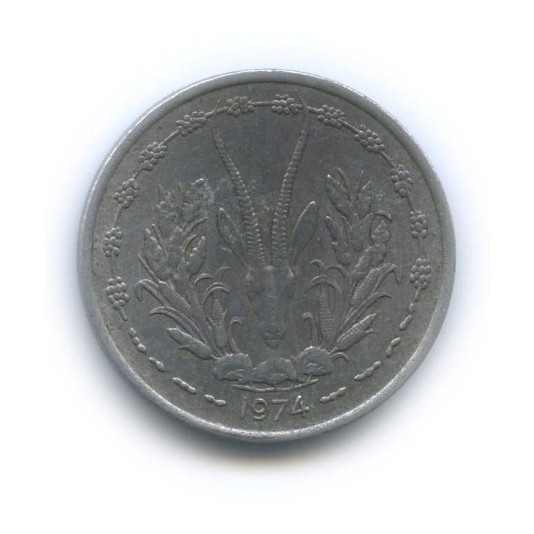 1 франк, Западная Африка 1974 года
