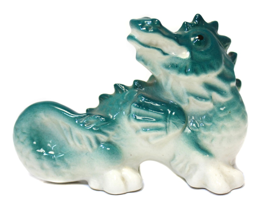 Фигурка «Дракон» (фарфор, ЛФЗ, клеймо, 6,5×9,5 см) (СССР)