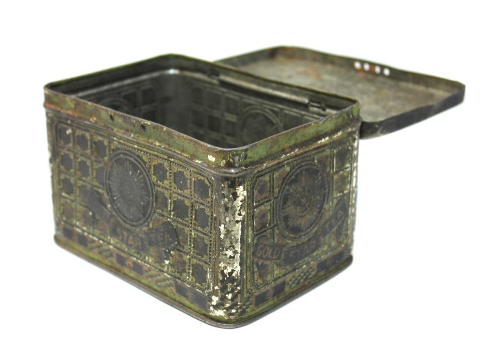 Коробочка отчая «Gold Star Tea» (14×9 см)