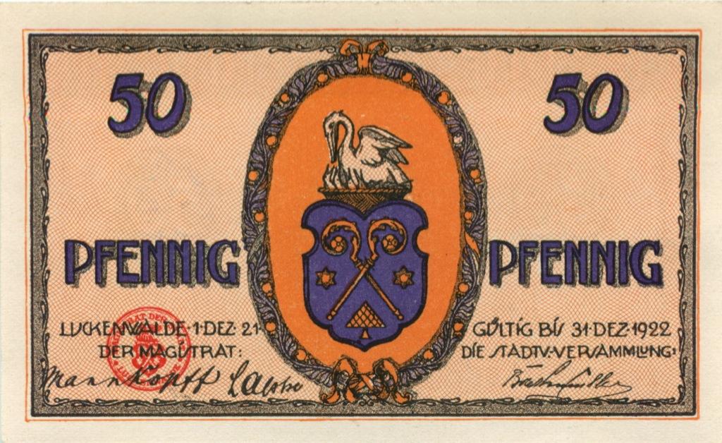 50 пфеннигов (нотгельд) 1922 года (Германия)